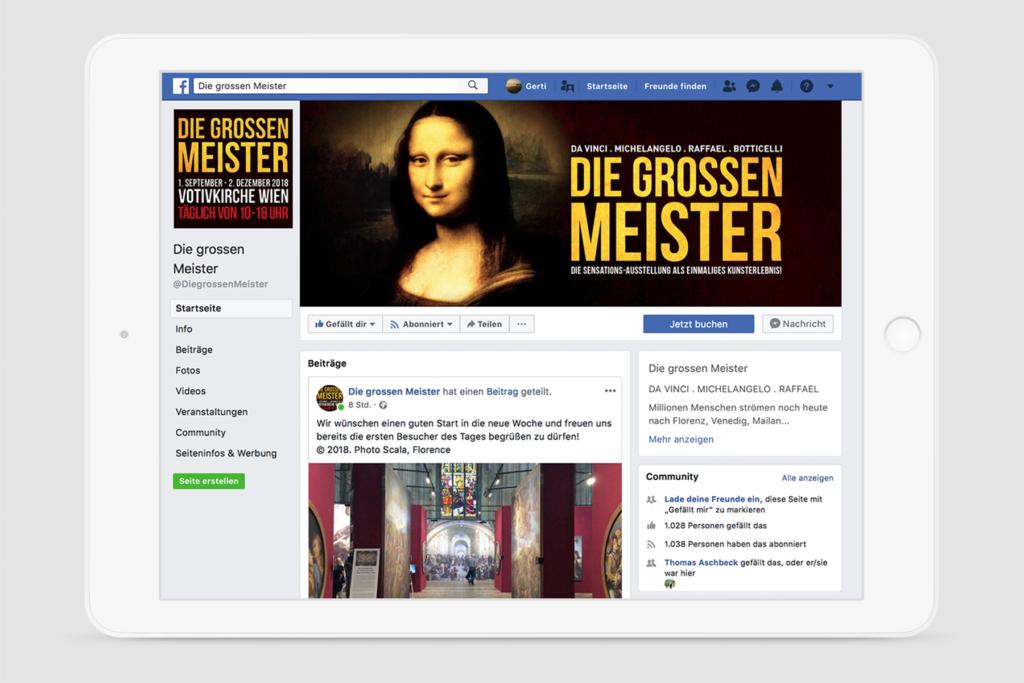 Facebook Seite Die grossen Meister