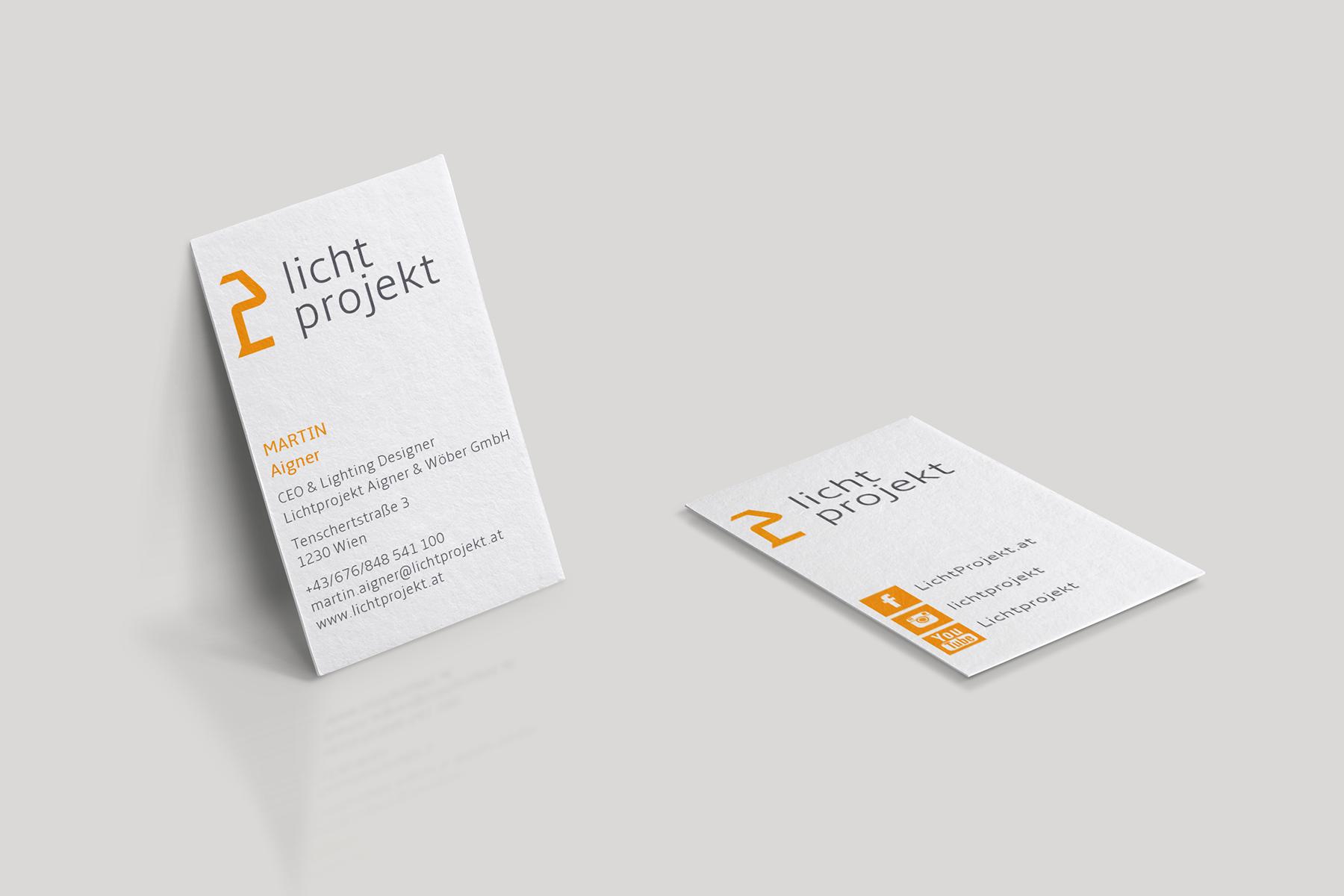 Visitenkarten Lichtprojekt