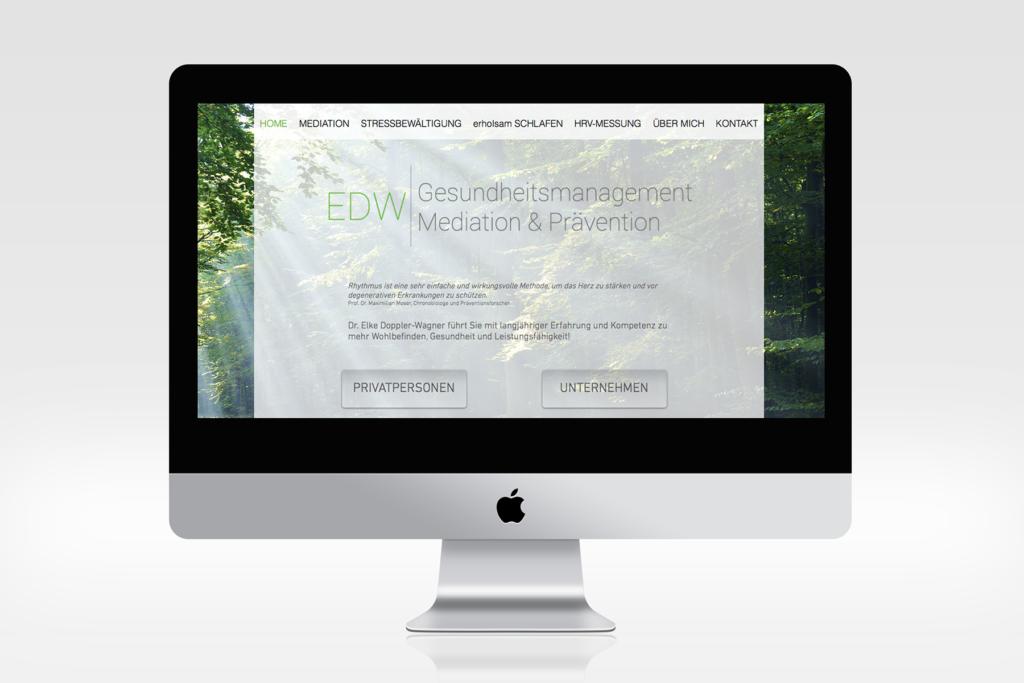 Website EDW Gesundheitsmanagement