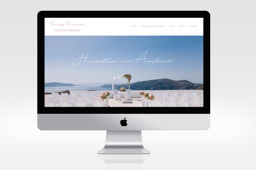 Website Simply Romantic Hochzeitsplanerin