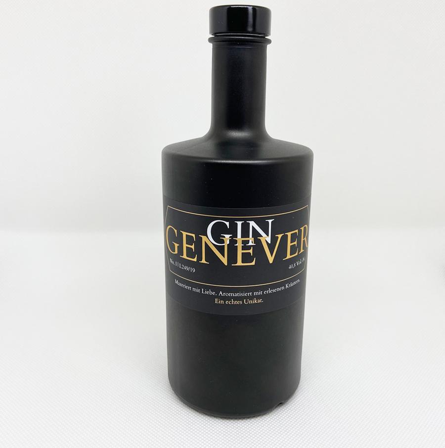 Etikettendesign Gin Genever